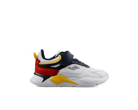 24931 P A White Navy Red Yellow