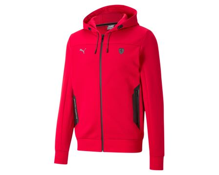 Ferrari Style Hooded Sweat Jacket Regular Fit
