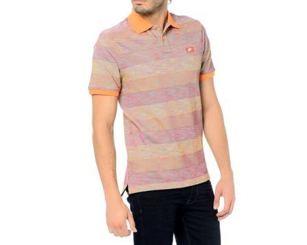 Gs Slim Polo-Blur Stripe