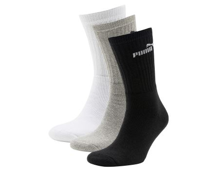 Sport Sock 3 Pack Outlets Black-Grey-Wht