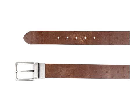 Textured Leather Man Belt With Dots