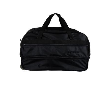 L Beden Siyah Körüklü Çekçekli Bavul