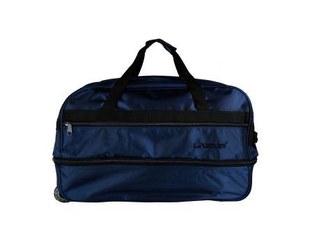 L Beden Lacivert Körüklü Çekçekli Bavul