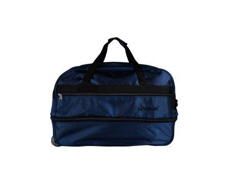 M Beden Lacivert Körüklü Çekçekli Bavul