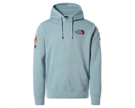 M Novelty Patch Pullover Hoodie
