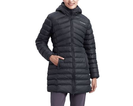 W Essentil Maxi Lenght Hooded Jacket