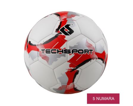 Red Gray Futbol Topu